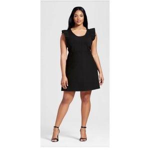 Victoria Beckham Flutter Sleeve Dress 3X